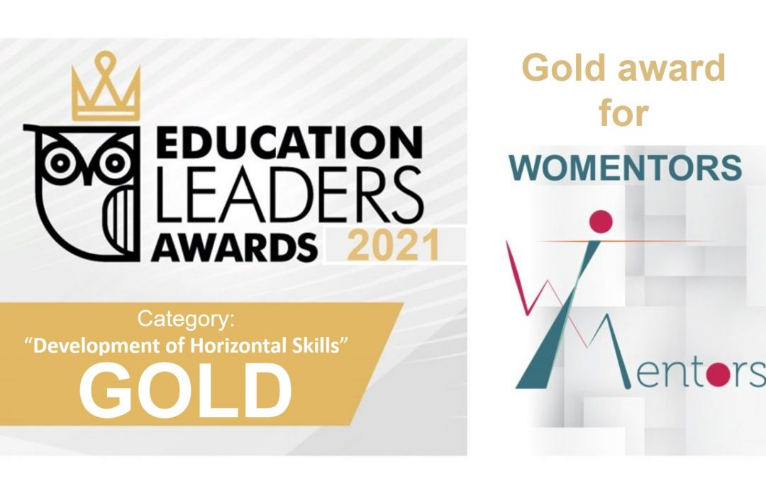 Gold award for WOMENTORS from the Education Leaders Awards